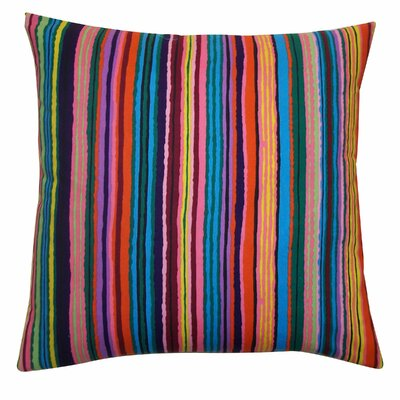 Strokes Cotton Throw Pillow