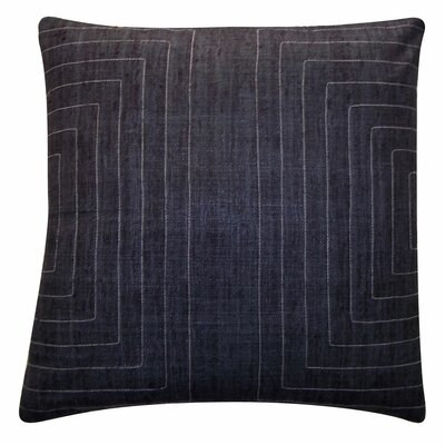 Streams Silk Throw Pillow Color: Charcoal