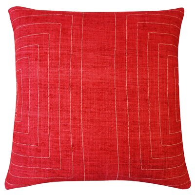 Streams Pillow Color: Red