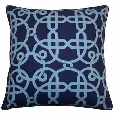Web Cotton Throw Pillow Color: Blue