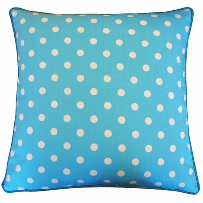Dot Cotton Throw Pillow Color: Blue