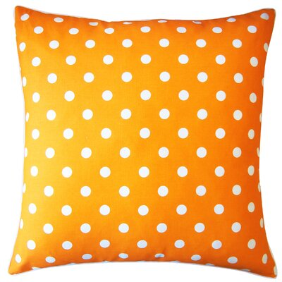 Dot Cotton Throw Pillow Color: Orange