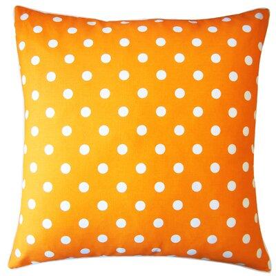 Dot Cotton Throw Pillow Color: Orange