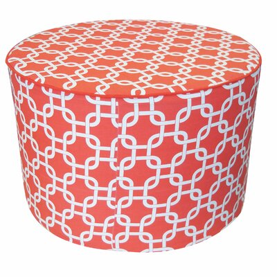 Pouf Cotton Ottoman Color: Peach