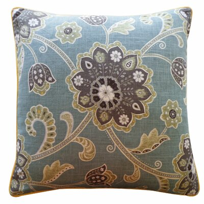 Amaryllis Cotton Pillow Color: Blue