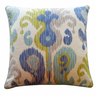 Camino Cotton Throw Pillow Color: Aqua