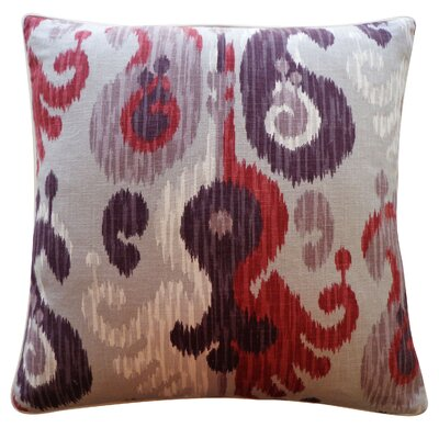 Camino Cotton Throw Pillow Color: Berry