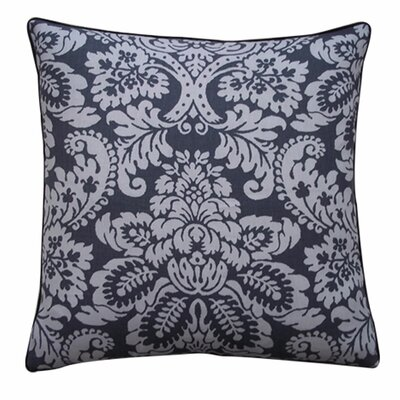 Hibiscus Linen Throw Pillow Size: 24 x 24, Color: Pewter
