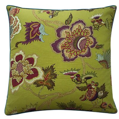 Jazmine Linen Throw Pillow Size: 24 x 24, Color: Plum