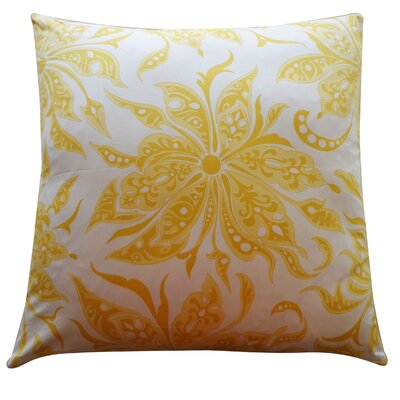 Flucci Cotton Throw Pillow Color: Yellow