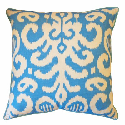 Lauri Cotton Throw Pillow Color: Blue