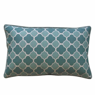 Bilbao Outdoor Lumbar Pillow Color: Green