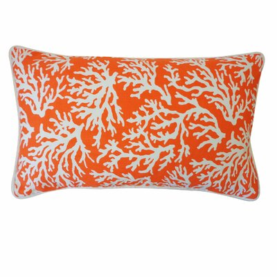 Coral Outdoor Lumbar Pillow Color: Orange