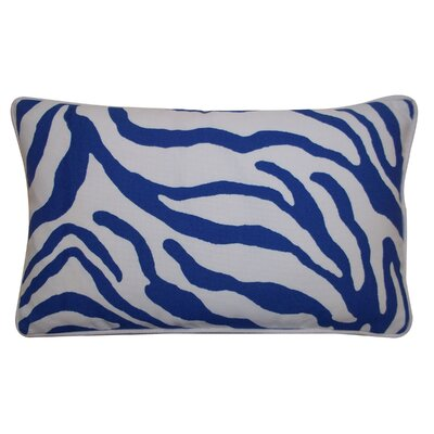 Desert River Outdoor Lumbar Pillow Color: Blue