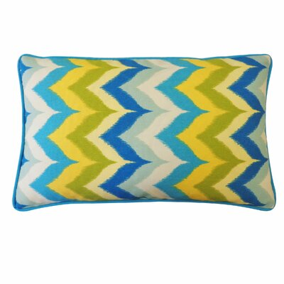 Dripping Paint Outdoor Lumbar Pillow Color: Blue