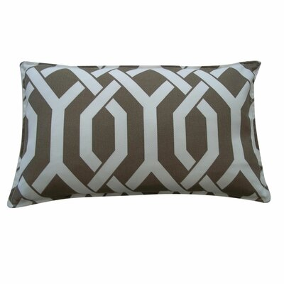 Fork Outdoor Lumbar Pillow Size: 12 x 20, Color: Brown