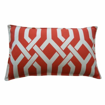 Fork Outdoor Lumbar Pillow Size: 12 x 20, Color: Red