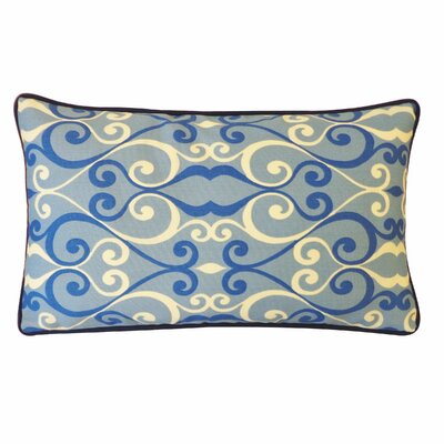 Iron Outdoor Lumbar Pillow Color: Blue