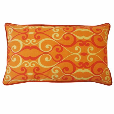 Iron Outdoor Lumbar Pillow Color: Orange