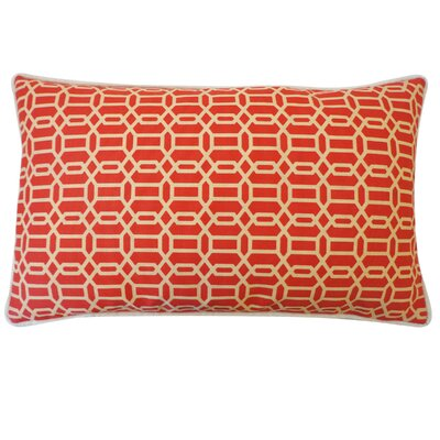 Mosaic Indoor/Outdoor Lumbar Pillow Color: Red