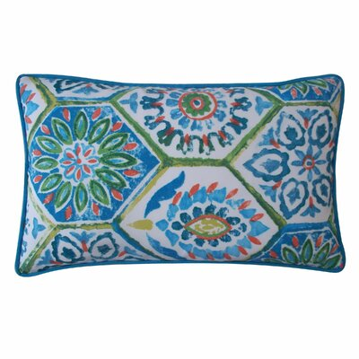 Palermo Outdoor Lumbar Pillow Color: Blue