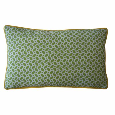 Pik Pak Outdoor Lumbar Pillow Color: Green / Yellow