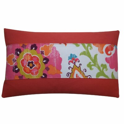 Petals Pieces Outdoor Lumbar Pillow Color: Red