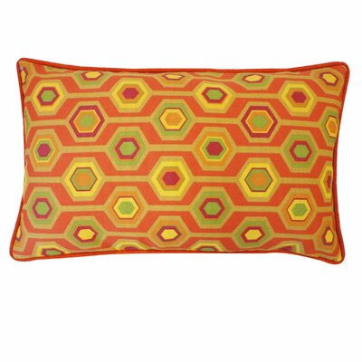 Recoleta Outdoor Lumbar Pillow Color: Orange