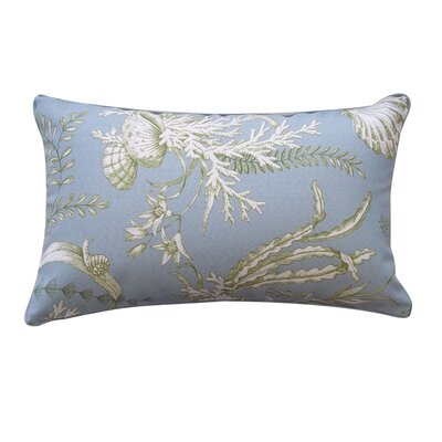 Sea Outdoor Lumbar Pillow Color: Robin