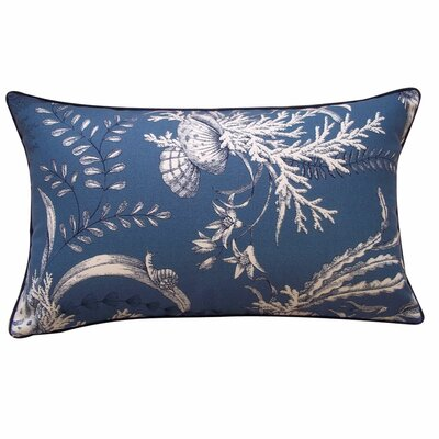 Sea Outdoor Lumbar Pillow Color: Slate Blue