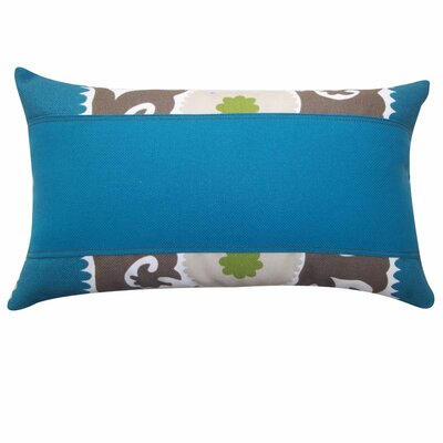Zani Outdoor Lumbar Pillow Color: Teal