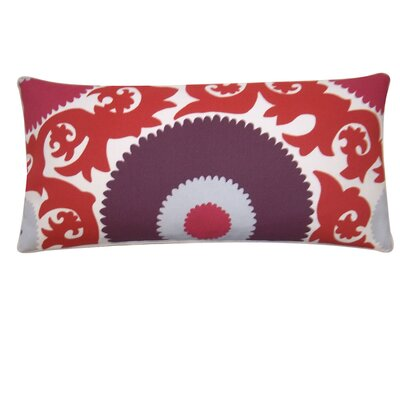"Zani Polyester Pillow Size: 12"" x 20"", Color: Red"