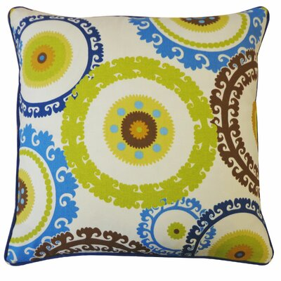 Buttons Outdoor Throw Pillow Color: Green