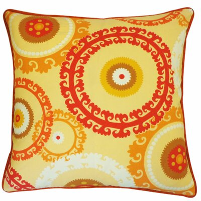 Buttons Outdoor Throw Pillow Color: Orange