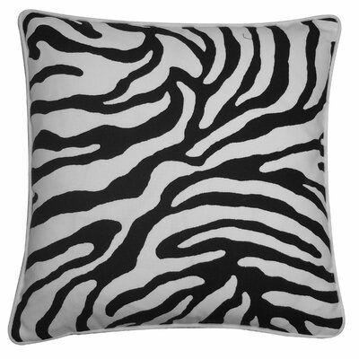 Desert River Outdoor Throw Pillow Color: Black
