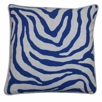 Desert River Outdoor Throw Pillow Color: Blue