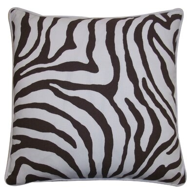 Desert River Outdoor Throw Pillow Color: Brown