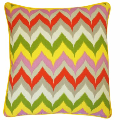 Dripping Paint Outdoor Throw Pillow Color: Red