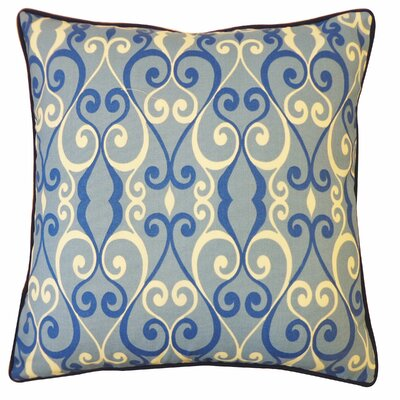 Iron Outdoor Throw Pillow Color: Blue