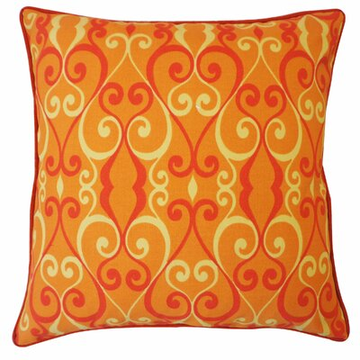 Iron Outdoor Throw Pillow Color: Orange