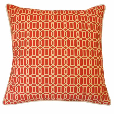 Mosaic Indoor/Outdoor Throw Pillow Color: Red