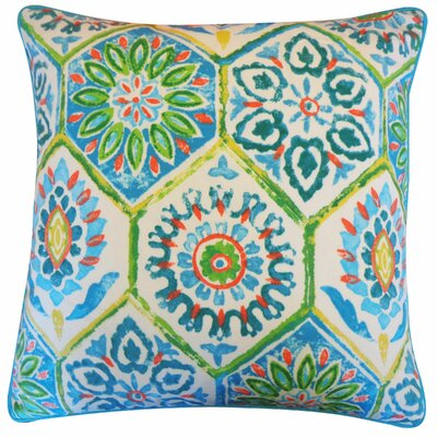 Palermo Outdoor Throw Pillow Color: Blue
