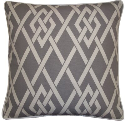 Point Outdoor Throw Pillow Color: Gray