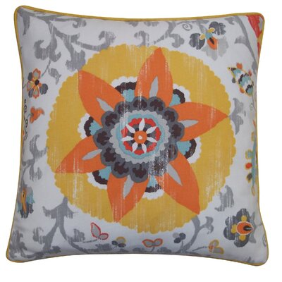 Petals Outdoor Throw Pillow Size: 26 x 26, Color: Yellow