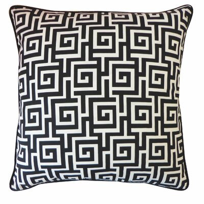 Puzzle Indoor/Outdoor Throw Pillow Color: Black