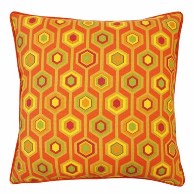 Recoleta Outdoor Throw Pillow Color: Orange
