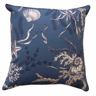 Sea Outdoor Throw Pillow Color: Slate Blue