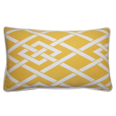 Point Outdoor Lumbar Pillow Color: Yellow