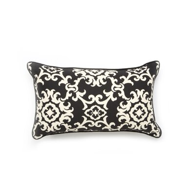Alvin Outdoor Lumbar Pillow Color: Black
