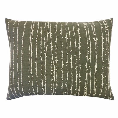 Creeper Beaded Cotton Throw Pillow